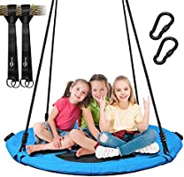 Trekassy 700lb Saucer Tree Swing for Kids Adults 40 Inch Textilene Wear- Resistant Waterproof Frame Includes 2 Tree...