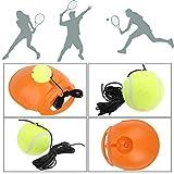 nex&co Fill & Drill Tennis Trainer, Tennis Practice Training Equipment with Rebound Ball on String for Kids Beginner, 2 Tennis Balls, Orange