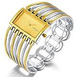 Women Luxury Silver Bangle Watch Fashion Stainless Automatic Watch Designer Cuff Bracelet Watches