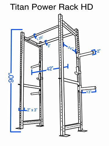 Titan T 3 Series Hd Power Rack Squat Deadlift Lift Cage
