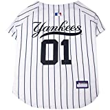 Pets First MLB NEW YORK YANKEES Dog Jersey, Small. - Pro Team Color Baseball Outfit