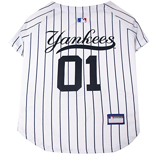 MLB New York Yankees Dog Jersey, X-Large. - Pro Team Color Baseball Outfit