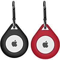 Silikonowa osłona do Apple AirTag etui z karabińczykiem, lokalizator kluczy AirTag Phone Finder Carry Cover Skin 2 szt…