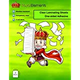 "Royal Elements Ultra Durable Self-Adhesive Vinyl Laminating Sheets 9"" x 12"" - 20 Sheets (Clear)"