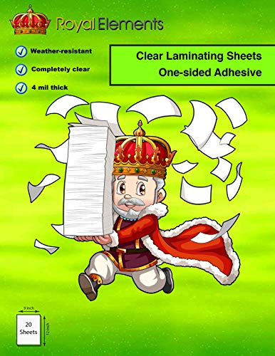 Royal Elements Waterproof Clear Vinyl Laminating Sticker Sheets 9
