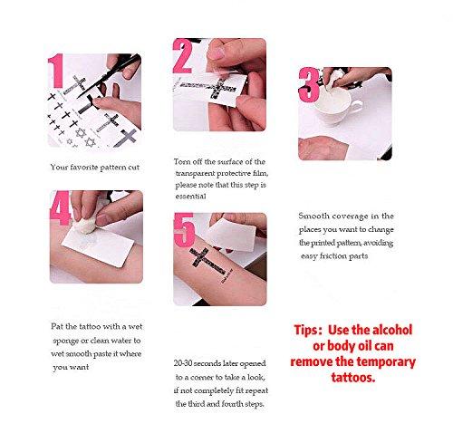 Amazoncom Aswcowy 8 Sheets Waterproof Metallic Temporary Tattoos