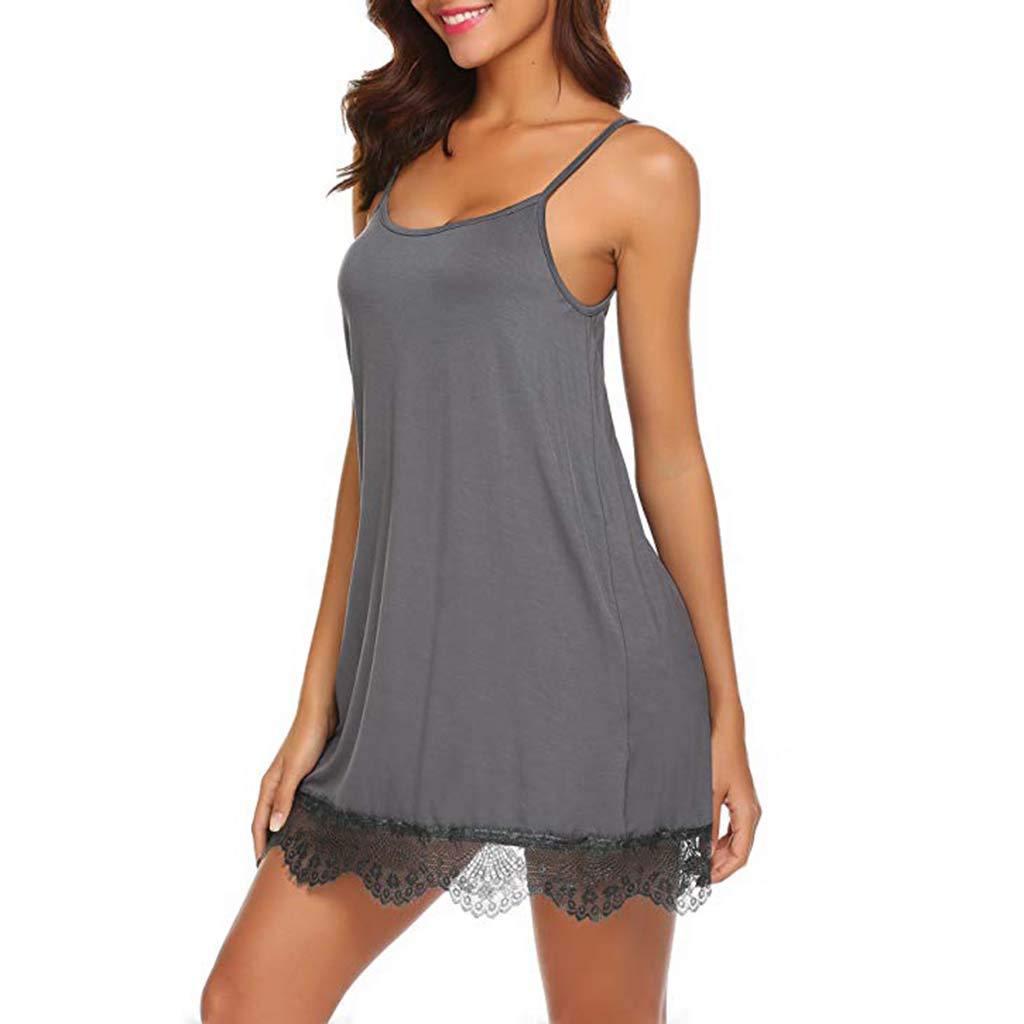Pervobs Womens Sexy Lace Babydoll Sleepwear Nightwear Camisole Mesh Loose Lingerie Underwear Lingerie(XL, Brown) by Pervobs Lingerie & Sleepwear (Image #6)