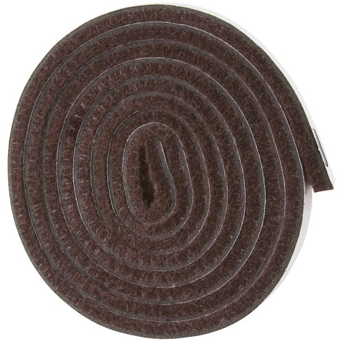 "UPC 074523022009, Self-Stick Heavy Duty Felt Strip Roll for Hard Surfaces (1/2"" x 60""), Brown"