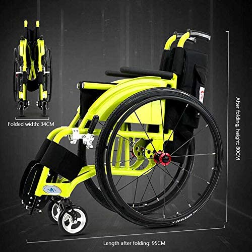 実用的 ポータブル折りたたみ式スポーツ車椅子3D衝撃吸収車椅子ポータブル折りたたみ式快適な肘掛け高齢者および障害者用介護カート用 福祉