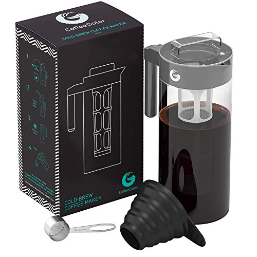 Coffee Gator Cold Brewer - For Natural Flavor That Couldn't Be Truer - 47floz, Gray