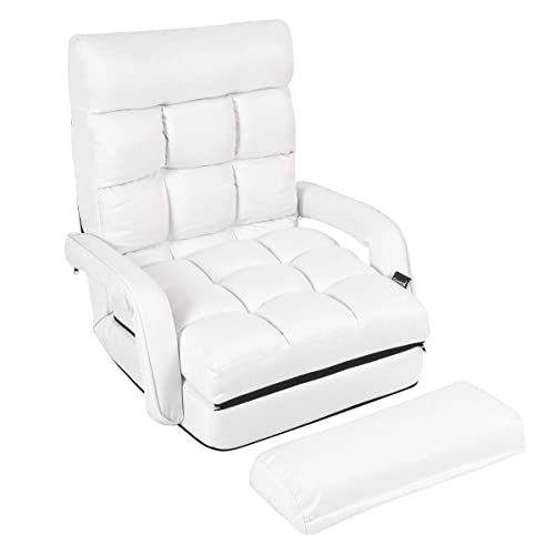 Giantex Folding Lazy Sofa Floor Lounger Bed with Armrests Review