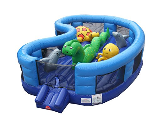 Inflatable Interactive Indoor and Outdoor Sea World Play Land Bouncer Includes 1.5 Hp Blower