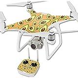 MightySkins Protective Vinyl Skin Decal for DJI Phantom 4 Quadcopter Drone wrap cover sticker skins Orange Avocados