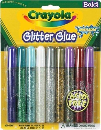 Crayola Glitter Glue,9 Count ( Case of 36 ) by Crayola