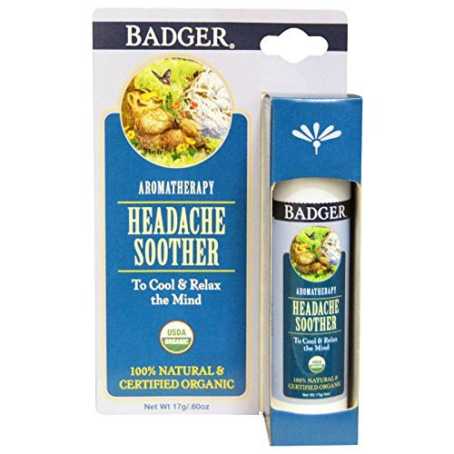Headache Soother (Badger Company, Headache Soother, Peppermint & Lavender, .60 oz (17 g) - 2PC)