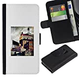 architecture city painting art Colorful Printing Holster Leather Wallet Case Pouch Skin Case Cover With ID Credit Card Slots For Samsung Galaxy S3 MINI / I8190 / I8190N (Not For Galaxy S3!!!)