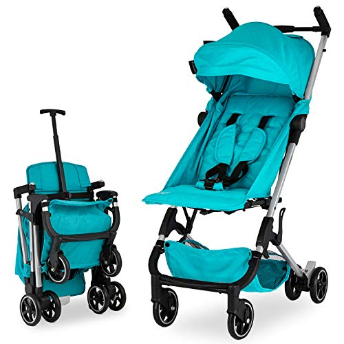 Babyroues Traveler Stroller, Ultra Lightweight and Compact, Infant to Toddler, Fits in Airplane Overhead Bin, 1 Step Fold, Full Reclining, Pull Handle ()