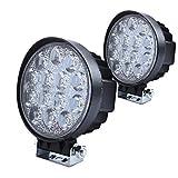 offroad quad - Ilike 42W Round LED Driving Light,12v LED Spot Light Off Road Lighting 12V 24V Off Road 4x4 Quad ATV Lighting.(Pack of 2)