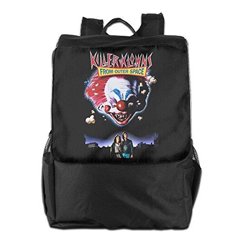 Killer Klowns Costumes (Killer Klowns From Outer Space Backpack Black For Men & Women Travel Hiking Backpack)