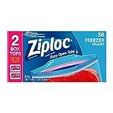 Ziploc Freezer Bags, Quart, 38 ct