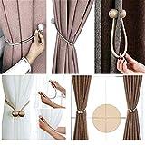HoHnH Magnetic Curtain Tiebacks Clips Decorative