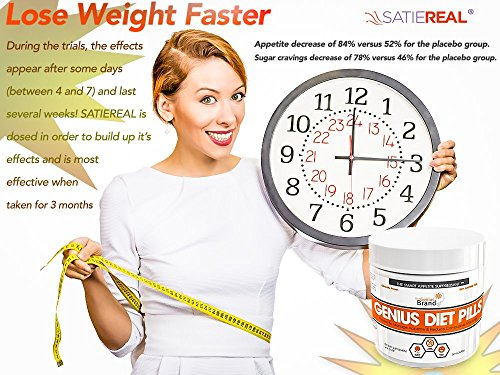 GENIUS DIET PILLS - The Smart Appetite Suppressant for Safe Weight Loss, Natural 5-HTP & Saffron Supplement Proven For Women & Men - Cortisol Manager + Mood, Stress and Thyroid Support, 50 Veggie Caps by The Genius Brand (Image #7)