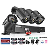 ANNKE 8CH 1080N HD TVI Security DVR W/ 4 960P 1.3MP Indoor/Outdoor Weatherproof CCTV Camera Systems, H.264+, Smart Playback, Email Alert with Image, One 1TB