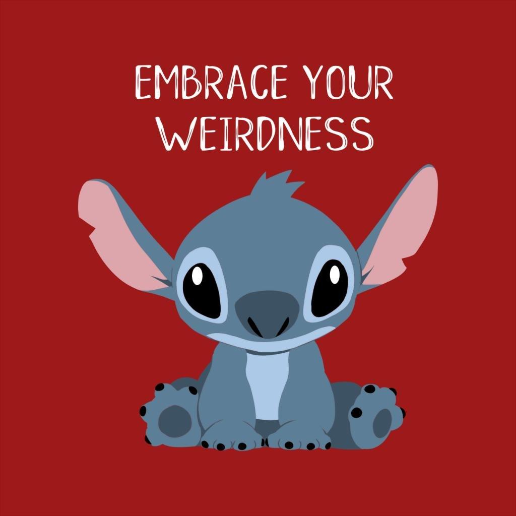 TeeTrumpet Embrace Your Weirdness Lilo and Stitch Womens Sweatshirt