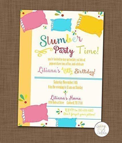 Amazoncom Slumber party invite set of 10 Sleepover birthday party