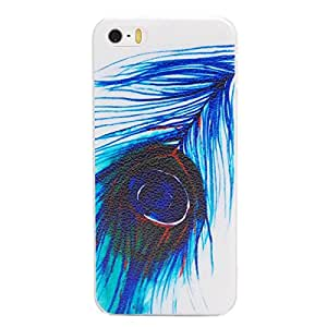 VAMVAZ Pretty Peacock Feathers Design Hard Plastic Back Case Cover Skin For iPhone 5 5G 5S