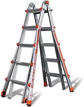 Poco gigante alta-one 19 ft. Tipo 1 escalera de aluminio multiusos: Amazon.es: Bricolaje y herramientas