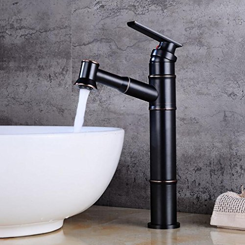 FeN Pull Down Taps,Bathroom Hot And Cold Faucet,Hotel Heightening Tap,Brass Basin Sink Mixer,Single Spout by FeN