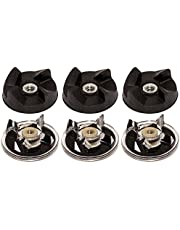 Blendin Lot of 6 Base Gear and Blade Gear Replacement Part, Compatible with Magic Bullet MB1001 250W