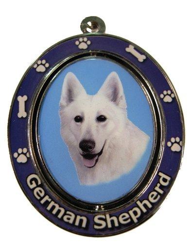 (German Shepherd, White Key Chain