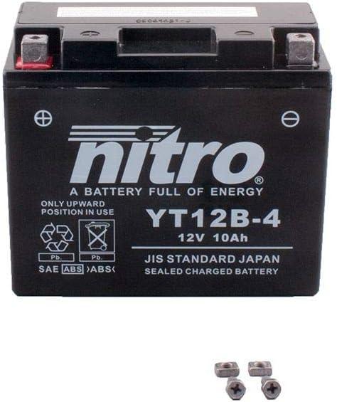 Bater/ía 12 V 10 Ah YT12B-4 Gel Nitro ZX-10R Ninja ZXT00E 08-09
