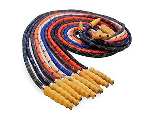 MYA SARAY 72'' BASIC WASHABLE HOSE WITH WOODEN TIP: SUPPLIES FOR HOOKAHS - These Hookah hoses are accessory pieces for shisha pipes. These synthetic leather accessories parts come in various colors. by Mya Saray