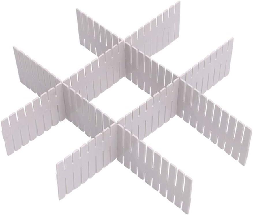 16 pcs R/églable Grille Tiroir Diviseurs DIY Plastique Placard S/éparateur Rangement Organisateur Conteneur pour Sous-V/êtements Chaussettes Ceinture Fournitures de Bureau