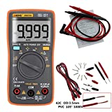 Alloet AN8008 True-RMS Digital Multimeter Square Wave Voltage Ammeter MAX Display 9999 Counts Auto/Manual Ranges True RMS (orange)