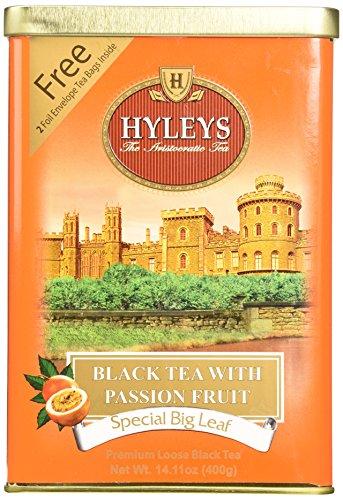 HYLEYS Tea Black Tea with Passion Fruit, 14.11 Ounce