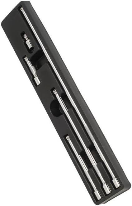 Sealey AK767 5pc 3//8 Sq Drive Wobble Extension Bar Set Set of 5 Pieces Silver