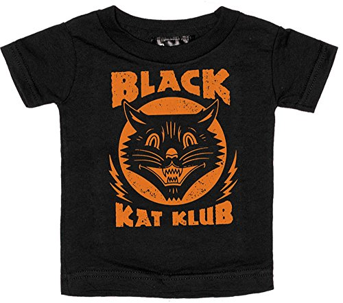 Sourpuss Black & Orange Black Kat Klub Shirt from Clothing -