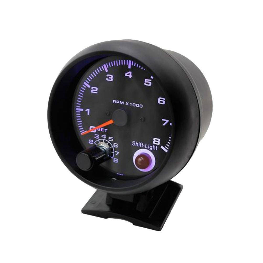 WINOMO Car Tachometer Gauge Turbo Boost Gauge White Light Universal Meter F9O332031068