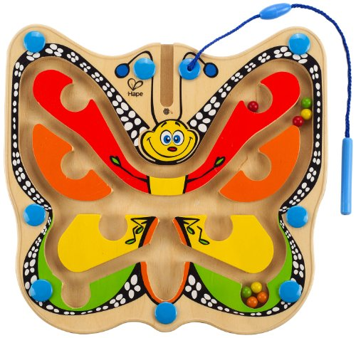 Hape Award Winning Color Flutter Butterfly Kid's Magnetic Wooden Maze Puzzle