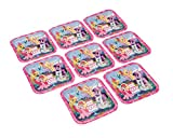 """American Greetings My Little Pony 9"""" Square Plate (8-Count)"""