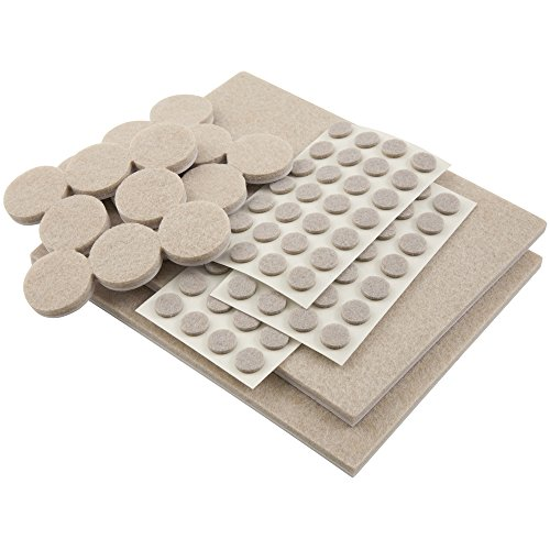 Self Stick Heavy Duty Felt Pads Value Pack Assortment For