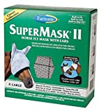 Farnam SuperMask II Classic Horse Fly Mask with Ears, X-Lrg, Assorted