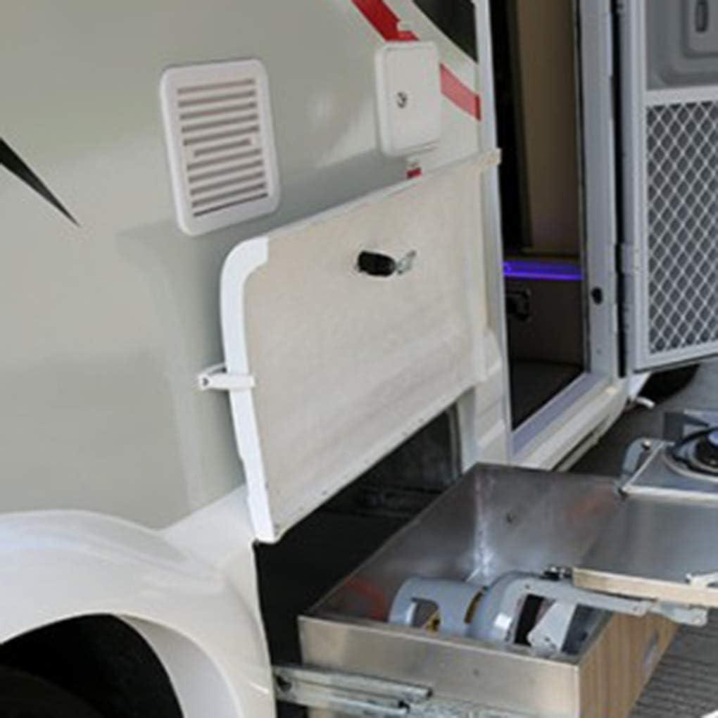 Elenxs Universal Low Noise Plastic 12V RV Trailer Caravan Side Air Vent Ventilation Fan Blower Cooling White