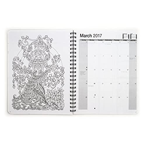 2017 Medium Mythical Enchantments Coloring Day Planner (7 x ...