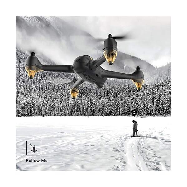 Hubsan H501S X4 PRO Brushless FPV Droni Quadricotteri GPS Fotocamera 1080P HD 5.8Ghz Headless Follow Me GPS Hold Altitude con H906A Telecomando (H501S Nero) 5 spesavip