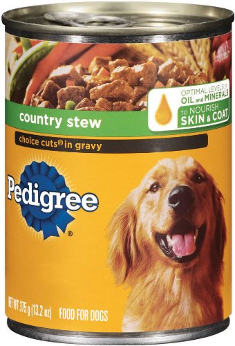 PEDIGREE CHOICE CUTS In Gravy Country Stew For Food Wet Dog Food, 13.2-Ounce Cans (Pack Of 24)